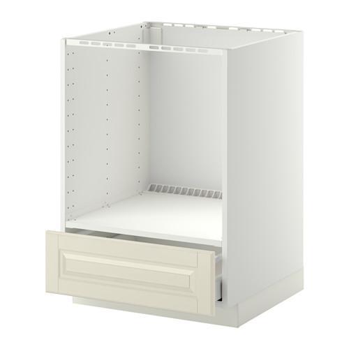 МЕТОД / МАКСИМЕРА Напольный шкаф д/духовки, с ящиком - Будбин белый с оттенком, белый