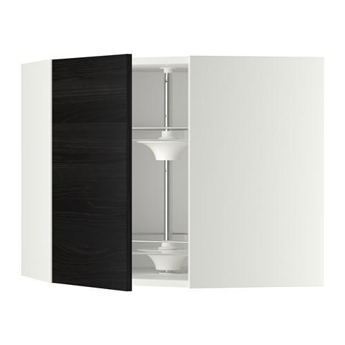МЕТОД Угл нвсн шкф с вращающ секц - 68x60 см, Тингсрид под дерево черный, белый