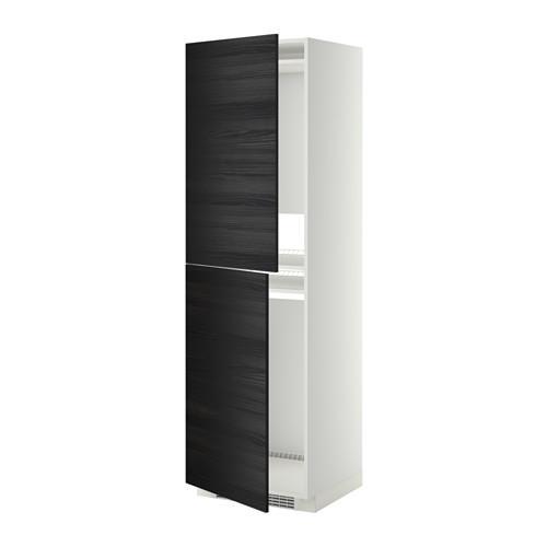 МЕТОД Высок шкаф д холодильн/мороз - 60x60x200 см, Тингсрид под дерево черный, белый