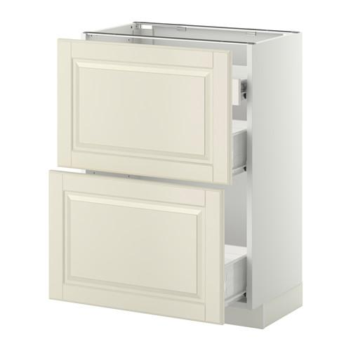 METHOD / FORVARA Nap cabinet 2 FRNT PNL / 1nizk / 2sr drawers - white, with a touch of white Budbin, 60x37 cm