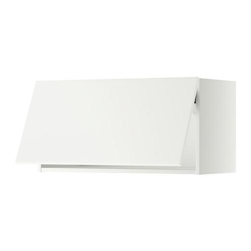 МЕТОД Горизонтальный навесной шкаф - 80x40 см, Хэггеби белый, белый