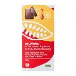 BELÖNING bar mørk sjokolade 60% appelsin og mandler Certificate UTZ 100 gr