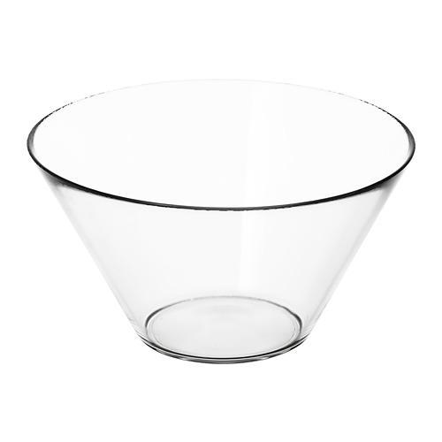 TRYGG миска сервировочная прозрачное стекло