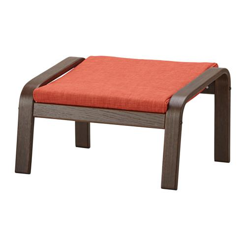 ПОЭНГ Табурет для ног - коричневый, Шифтебу темно-оранжевый