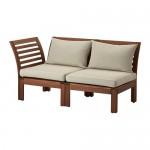 ÄPPLARÖ 2-местный модульный диван, садовый коричневый/Холло бежевый