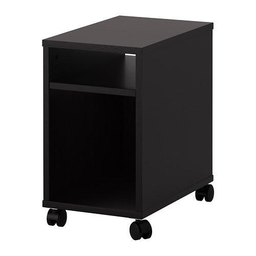 ОЛТЕДАЛЬ Прикроватный столик - черно-коричневый