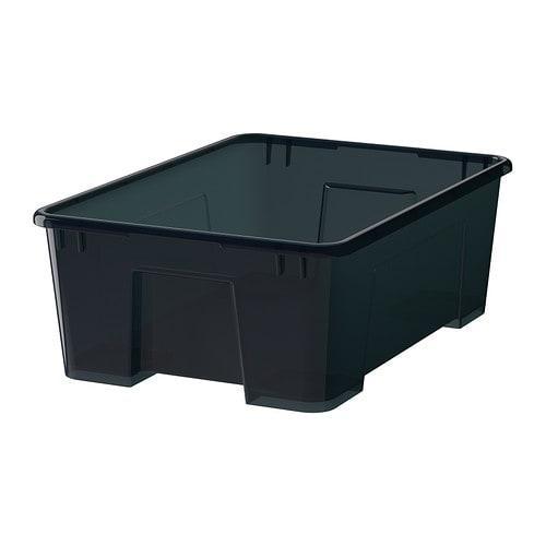 САМЛА Контейнер - черный, 39x28x14 см/11 л