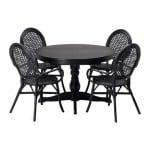 Ingatorp / 4 ELMSTA bord og stoler