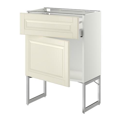МЕТОД / МАКСИМЕРА Напольный шкаф с ящиком/дверью - 60x37x60 см, Будбин белый с оттенком, белый