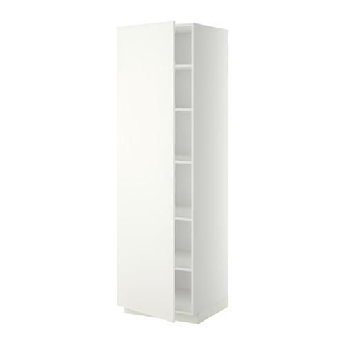 МЕТОД Высок шкаф с полками - 60x60x200 см, Хэггеби белый, белый