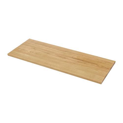 MÖLLEKULLA benkeplate eik / finér 63.5x186 cm