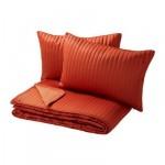 КАРИТ Покрывало и 2 чехла на подушку - оранжевый, 260x280/40x60 см