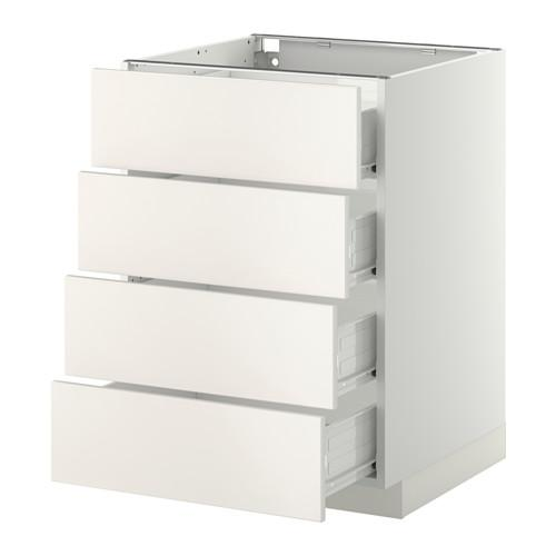 methode forvara au enschrank 4 frontplatte 4 schublade wei weddinge wei 60x60 cm 192. Black Bedroom Furniture Sets. Home Design Ideas