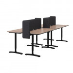 BEKANT table combination - gray / black