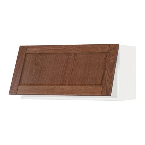 МЕТОД Горизонтальный навесной шкаф - 80x40 см, Филипстад коричневый, белый