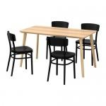 LISABO / 4 IDOLF bord og stoler