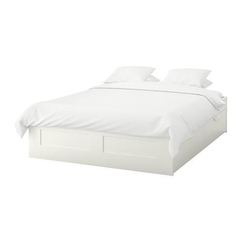 Brimnes Bed Frame With Drawers White, Ikea Bed Frame With Storage Brimnes