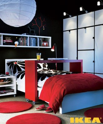 एक बेडरूम का इंटीरियर