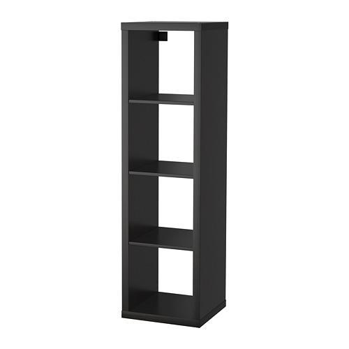 KALLAX стеллаж черно-коричневый 42x39x147 cm
