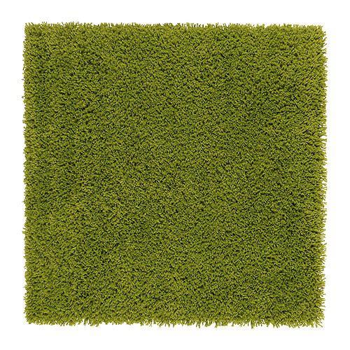ХАМПЭН Ковер, длинный ворс - ярко-зеленый