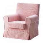 ЭКТОРП ЭННИЛУНД Чехол кресла - Согмюра розовый/клетчатый орнамент