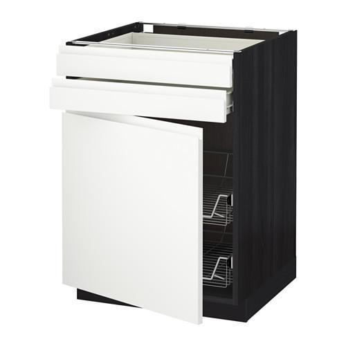 MÉTHODE / FORVARA Armoire de plancher / porte / couture 2 / prr krzn - sous bois noir, blanc Vokstorp, 60xXNNUMX