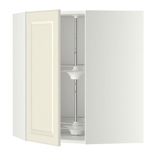 МЕТОД Угл нвсн шкф с вращающ секц - 68x80 см, Будбин белый с оттенком, белый