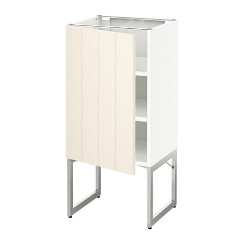 МЕТОД Напольный шкаф с полками - 40x37x60 см, Хитарп белый с оттенком, белый