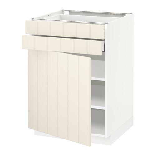 МЕТОД / МАКСИМЕРА Напольный шкаф с дверцей/2 ящиками - 60x60 см, Хитарп белый с оттенком, белый