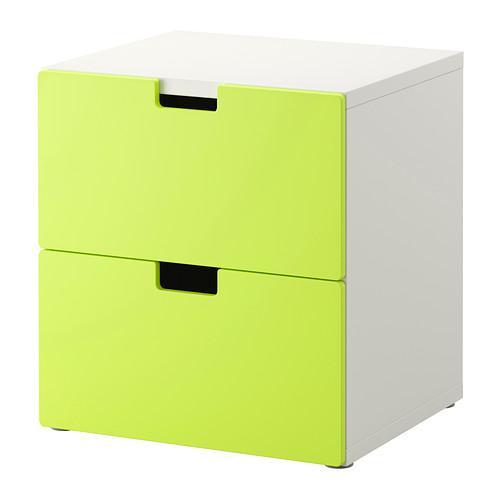 СТУВА Комод с 2 ящиками - зеленый