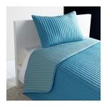 КАРИТ Покрывало и чехол на подушку - бирюзовый, 180x280/40x60 см