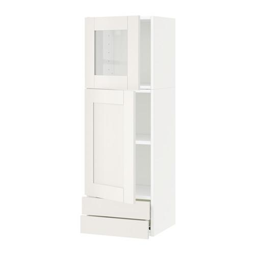 METHOD / FORVARA Wall cabinet / dd / stack dv / 2 drawers - white, white Sevedal