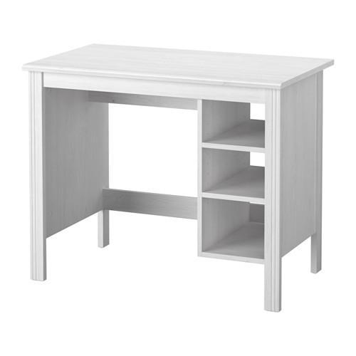 Brusali Writing Desk White 703 023 01 Reviews Price Where To Buy