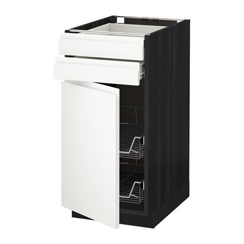 MÉTHODE / plancher FORVARA armoire / porte / 2yasch / prvl krzn - bois noir, blanc Vokstorp, 40x60 cm