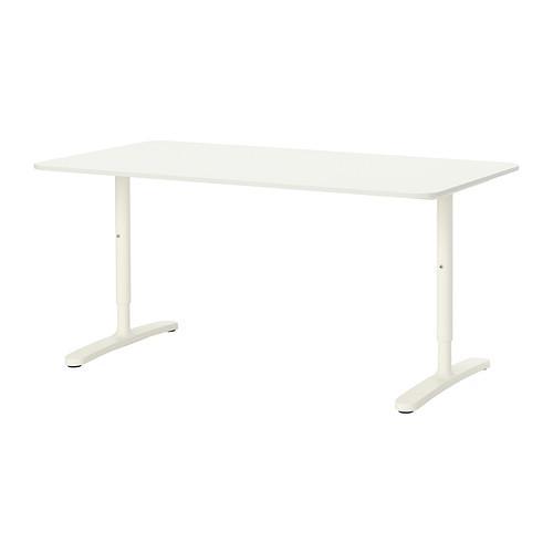 БЕКАНТ Письменный стол - белый