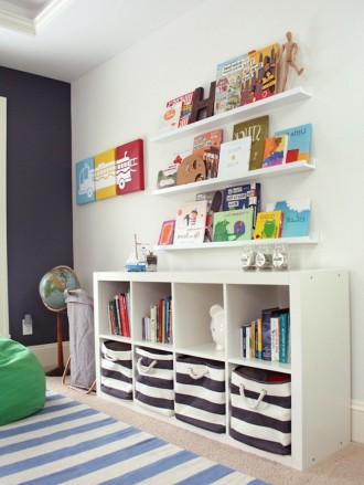 Bright playroom with IKEA