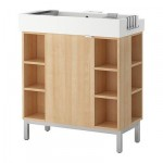 LILLONGEN Wardrobe n / a sink with DDA 1 / 4 outdoor Regiment - Birch
