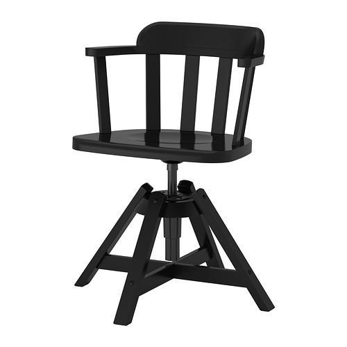 ФЕОДОР Вращающееся легкое кресло - черный