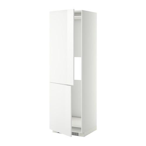 МЕТОД Выс шкаф д/холодильн или морозильн - 60x60x200 см, Рингульт глянцевый белый, белый