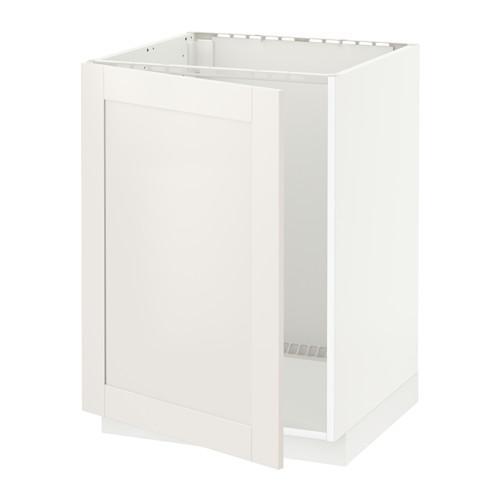 МЕТОД Напольный шкаф для раковины - Сэведаль белый, белый