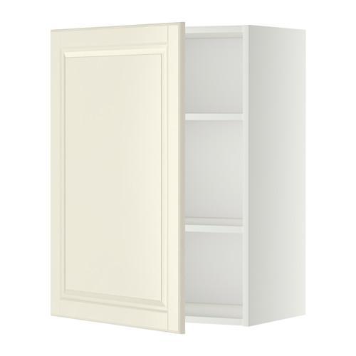 МЕТОД Шкаф навесной с полкой - 60x80 см, Будбин белый с оттенком, белый