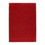 АЛЬХЕДЕ Ковер, длинный ворс - красный, 133x195 см