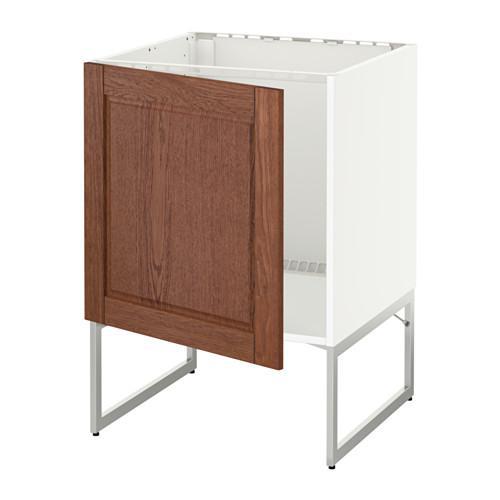 МЕТОД Напольный шкаф для раковины - Филипстад коричневый, белый