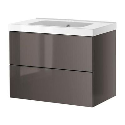 godmorgon odensvik cabinet sinks with 2 drawers high gloss gray s79903497 reviews price. Black Bedroom Furniture Sets. Home Design Ideas