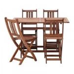 БОЛЛО Стол и 4 стула