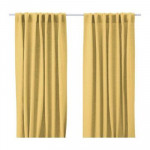AINA curtains, 2 Pieces - Yellow