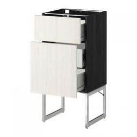 MÉTODO / sem FORVARA un relleno FRNT 2 / 3 promedio del cajón - 40x37x60 cm madera de fresno blanco negro Rosedal