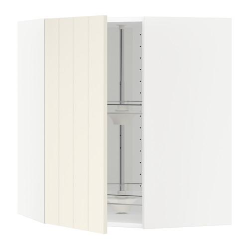 МЕТОД Угл нвсн шкф с вращающ секц - белый, Хитарп белый с оттенком, 68x80 см