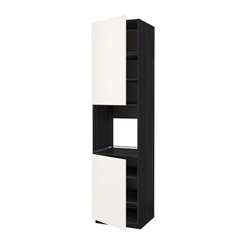 SPÔSOB Vysoká skrinka d / rúra / 2dvertsy / polica - drevo čierna, biela svadba, 60x60x240 cm