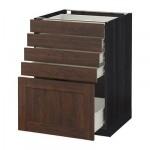 MÉTODO / gabinete FORVARA Base con cajones 5 - 60x60 cm Edserum madera madera marrón negro